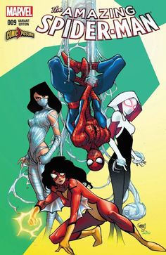 Spider-Woman, Silk, and Spider-Gwen by Pasqual Ferry