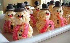 rice krispy snowman