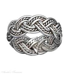 Image result for Braided Celtic Knot Weave Rope Ring