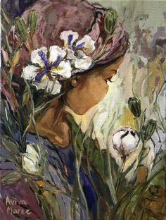 'Geanker in groen' - 30 x - oil on belgian linen. Available at The Showroom Art Gallery. Floral Drawing, Fabric Painting, Art Gallery, Scene, Drawings, Flowers, Art Ideas, Paintings, Bedroom
