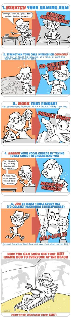 """""""5 Workouts to get a Rockin' Hot Bod (for gamers)"""" #dorkly #geek #gamers"""
