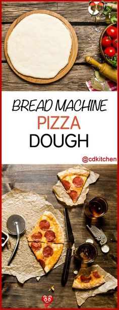 Bread Machine Pizza Dough Recipe | CDKitchen.com Bread Machine Pizza Dough - Let your bread machine do the hard work and make pizza dough the easy way. When it's done kneading simply bake it in the oven like you would normally. | CDKitchen.com<br>