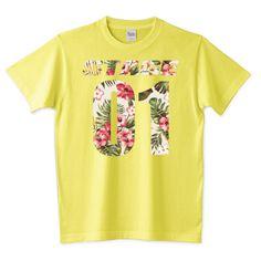 STAGE01×ナンバーロゴプリントロゴTシャツ(ボタニカル柄バージョン)/ボタニカル,ナンバー,スポーツ,スポーティー,サッカー,Tシャツ,ロンT,パーカー,スウェット | デザインTシャツ通販 T-SHIRTS TRINITY(Tシャツトリニティ)