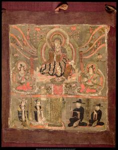 Dunhuang painting - Ksitigarbha as Lord of the Six Ways Dunhuang, Thangka Painting, Buddhist Art, Silk Road, Sacred Art, British Museum, Deities, Buddhism, Fresco