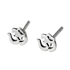 Studs with the Ohm or Om symbol