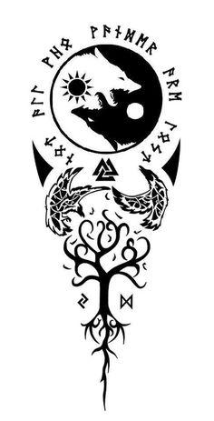 Nordic Tattoo 24375 will be out soon but very slow updates Buddha Tattoos, Maori Tattoos, Celtic Tattoos, Viking Tattoos, Wolf Tattoos, Body Art Tattoos, Sleeve Tattoos, Samoan Tattoo, Polynesian Tattoos