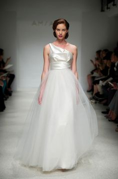 Amsale 'Parker' One-Shoulder Wedding Dress - Nearly Newlywed Wedding Dress Shop