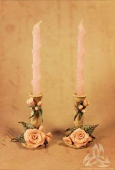 handmade miniature candleholders
