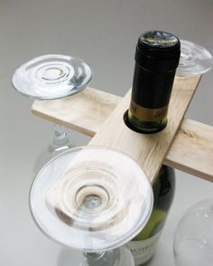 Pair of wood wine caddy salvaged pallet hostess wedding romantic table setting stackable gift occasion
