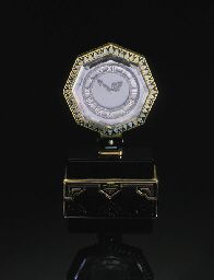An Important Art Deco Rock Crystal And Diamond Mystery Clock By Cartier