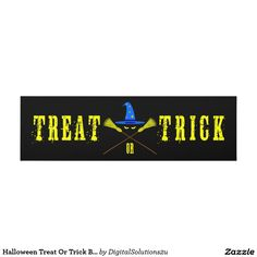 Halloween Treat Or Trick Black Panel Wall Art