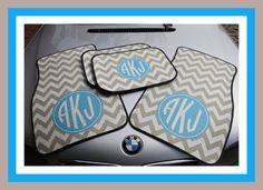 Personalized Car Mats Monogrammed Car Mats Custom by ChicMonogram, $75.00