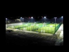 Resurfacing All Weather Pitch With 3G Synthetic Football Grass - YouTube