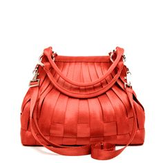 small stella hobo red $258 - seat belts are the sturdiest material for bags. This will last for years!