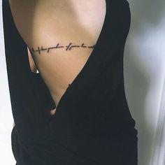 Quote tat on @emmathalken. #tattoos #love - Follow @inkspiringtattoos