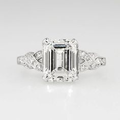 Art Deco 1930's 2.90ct t.w. Emerald Cut by YourJewelryFinder