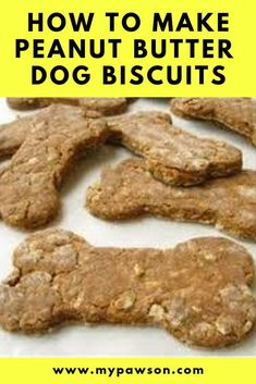 How To Make Peanut Butter Dog Biscuits Try our yummy Peanut Butter dog biscuit recipe. These are a tasty homemade treat for your dog and will last for 2 weeks in an airtight container. Dog Safe Cake Recipe, Dog Cake Recipes, Dog Biscuit Recipes, Dog Treat Recipes, Dog Food Recipes, Healthy Dog Biscuit Recipe, Recipe Treats, Frozen Dog Treats, Diy Dog Treats