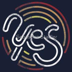 'Yes - Retro Typographic Art' T-Shirt von Sebastian Stadler Cool Tees, Cool T Shirts, Best Tank Tops, T Shirts With Sayings, Graphic Shirts, Funny Tshirts, My Design, Shirt Designs, Retro