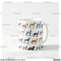 Shop Dogs Of All Kinds Coffee Mug created by LeonOziel. Christmas Holidays, Christmas Cards, White Elephant Gifts, Photo Mugs, Coffee Mugs, Gift Ideas, Make It Yourself, Decorating, Dogs