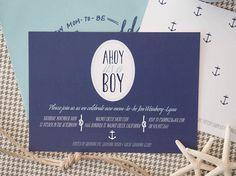 Jen's Nautical Baby Shower Invitations