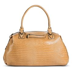 Women's Alligator Print Weekender Handbag - Tan