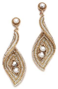 antique gold wave turn earrings  http://rstyle.me/n/fkm95pdpe