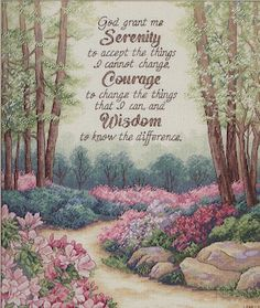 Create a pretty decorative accent for your living space, using the Ek Success Dimensions Gold Collection Serenity, Courage, and Wisdom Counted Cross Stitch Kit 12 x It features an aesthetic design Dimensions Cross Stitch, Serenity Prayer, Beautiful Forest, Counted Cross Stitch Kits, Religion, Cross Stitching, Cross Stitch Patterns, Stitching Patterns, Prayers