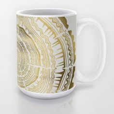Gold Tree Rings Mug