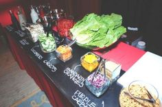 Catering Display Ideas | ... way to display the menu for a Bar Mitzvah from Robin Joyce Catering