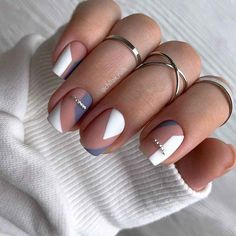 Glam Nails, Classy Nails, Stylish Nails, Trendy Nails, Beauty Nails, Subtle Nails, Neutral Nails, Manicure Nail Designs, Nail Manicure