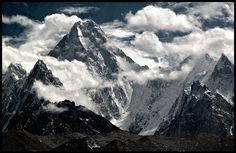 gasherbrum IV (7912m)  from the baltoro glacier
