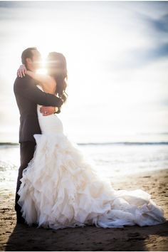 OBSESSED with this shot via StyleUnveiled.com / Santa Barbara Real Wedding / Meghan Christine Photography