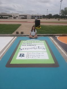 high school Diy Craft Table craft table on wheels diy Best Friend Poems, Senior Year Pictures, Graduation Pictures, Cheer Pictures, Senior Year Quotes, Senior Photos, Parking Spot Painting, Arte Fashion, Space Painting