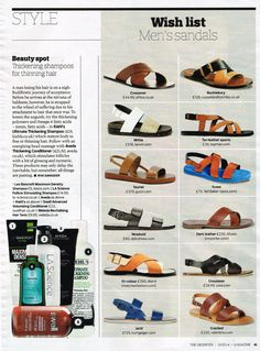 Ted Baker Footwear in The Observer Magazine 18.05.14