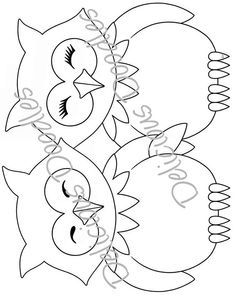 Owl Patterns, Applique Patterns, Applique Designs, Embroidery Designs, Owl Coloring Pages, Cat Coloring Page, Owl Quilts, Bird Quilt, Owl Clip Art