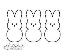 Peeps Bunny Stencils. 'Cause you never know when you might need to stencil some Peeps.