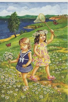 """Photo from album """"Лето"""" on Yandex. Vintage Pictures, Art Pictures, Photos, Little People, Little Girls, Paradise Pictures, Foto Gif, Animation, Gif Animé"""