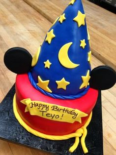 Sorcerer Mickey cake Misc Disney Pinterest Mickey cakes Cake