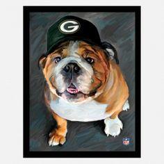 Packer NFL Bulldog #shopko via http://www.shopko.com/detail/artissimo-packers-nfl-bulldog/32981