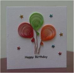 Item # 10246 Description: Show someone that you take the effort into making their special day extra memorable when you give them this gorgeous quilled birthday card. The cover is decorated with birthd More