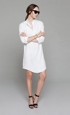 Emerson Fry - Ivory Shirt Dress