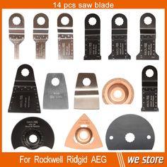 14 pcs Oscillating multi tool Saw Blades Accessories for Rigid AEG Worx etc Multimaster power tool ,with HSS blade,metal cutting