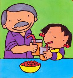 Prent 12 - Anna eet graag fruit