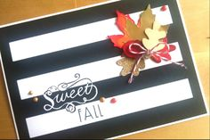 """I loved this weeks Make It Monday inspiration by Danielle at Papertrey Ink and I instantly wanted to try it myself. This is what I came up with!  Maple die: Provo Craft Other dies: PTI """"Nuts for You"""" Die to cut out the stripes: My favorite Things """"Blueprints 1"""" Wooden Embellishment: Stampin Up Stamps: Hema + Paper Smooches """"Alphadot""""  Challenges: nicholeheady.typepad.com/capture_the_moment/2015/09/make-... www.simonsaysstampblog.com/blog/category/events/work-it-w..."""