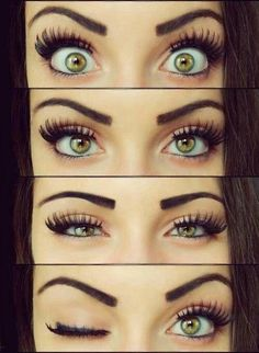 False lashes can be a pain, not to mention time consuming! Here are a few ways to get the look without the hassle:   Step 1:  After curling...