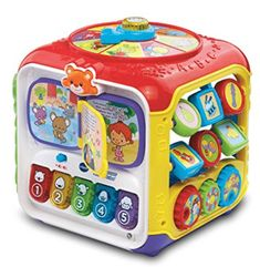 Sort & Discover Activity Cube By VTech! The VTech activity cube features 5 sides filled with 8 fun activities to explore. educational toy for toddler. Learning Toys For Toddlers, Toddler Learning, Toddler Toys, Toys For Boys, Baby Toys, Kids Toys, Baby Play, Vtech Activity Cube, Activity Toys