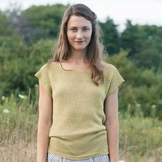 snell tee knitting pattern - Quince and Co
