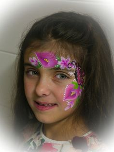 Kinderschminken Abudabula Kinderevents Bollywood Flowers