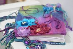 how to make a felted journal cover