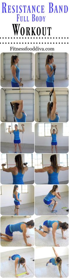 At Home Workout with Resistance BANDS.